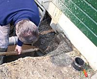 Riool inspectie door de loodgieters van PCS Totaal